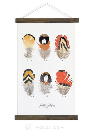 Feather Patterns Vol.3 | Scientific Canvas Wall hanging | more options VPC103 - vol25