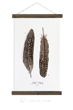 Feather Patterns Vol.4 | Scientific Canvas Wall hanging | more options VPC104 - vol25