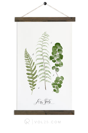 Fern Study Vol.3 | unique wall hanging art | more options