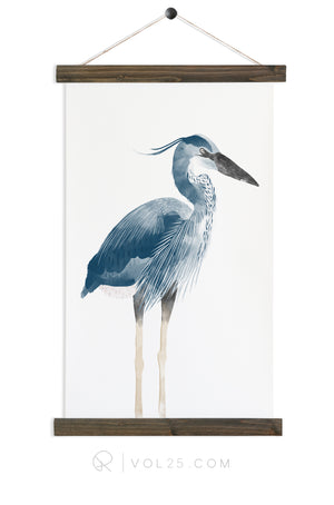 Heron | Canvas Wall hanging | more options