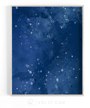 Indigo | Textured Cotton Canvas Art Print  | VOL25