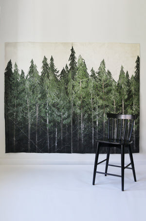 Into The Woods Mural |  2 Canvas Hand Distressed Tapestries
