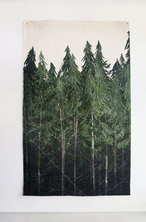 Into The Woods |  Canvas Hand Distressed Tapestry | more options