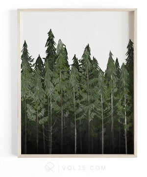 Into The Woods | Textured Cotton Canvas Art Print | VOL25