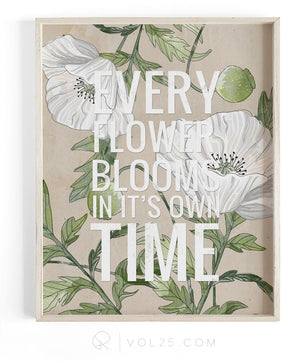 In It's Own Time | Textured Cotton Canvas Art Print | VOL25