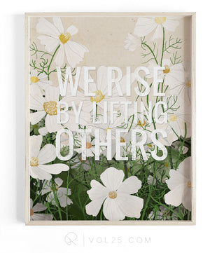 Lifting Others | Textured Cotton Canvas Art Print | VOL25