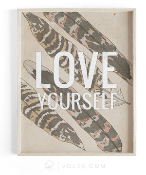 Love Yourself | Textured Cotton Canvas Art Print | VOL25