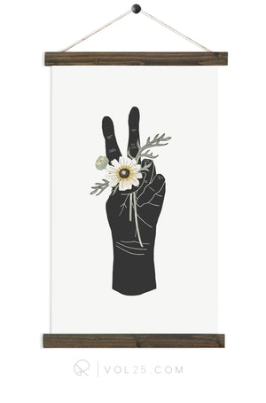 Peace and Daisies | Canvas Wall hanging | more options