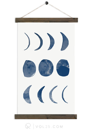 Phases Of The Moon |  unique wall hanging art | more options