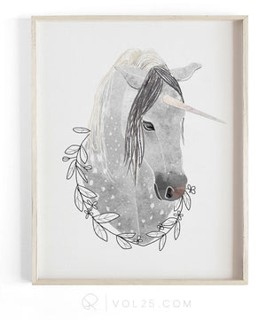 Rain the unicorn | Textured Cotton Canvas Art Print | VOL25