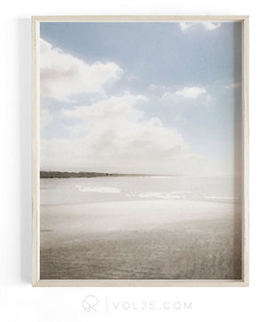 Saltwater Sky | Textured Cotton Canvas Art Print, 9 sizes | VOL25