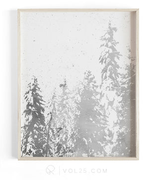 Snowfall | Textured seasonal art decor Cotton Canvas Print in 4 Sizes | VOL25