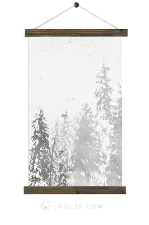 Snowfall | Seasonal Art Decor | Canvas Wall Hanging | More options