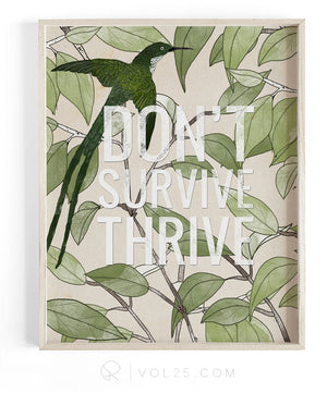 Thrive | Textured Cotton Canvas Art Print | VOL25