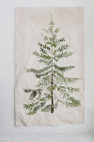 Towering Fir |  Canvas distressed Tapestry | more options