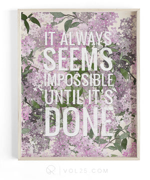 Until It's Done | Textured Cotton Canvas Art Print | VOL25