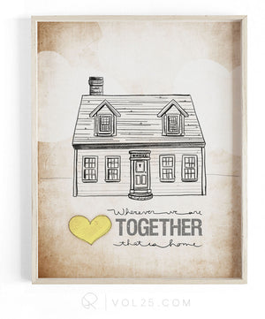 Wherever We Are Together Series | Cape Cod | Textured Cotton Canvas Art Print | VOL25