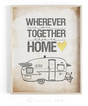 Wherever We Are Together Series | Shasta Trailer | Textured Cotton Canvas Art Print | VOL25