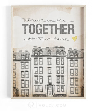 Wherever We Are Together Series | Apartment | Textured Cotton Canvas Art Print | VOL25