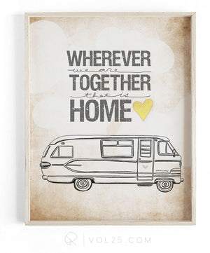 Wherever We Are Together Series | Travco Motorhome | Textured Cotton Canvas Art Print | VOL25