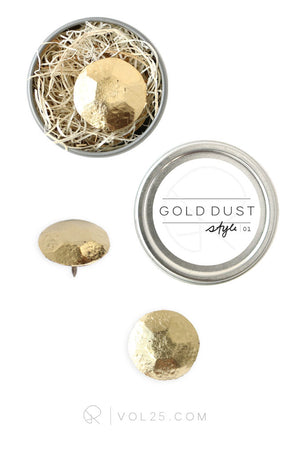 Designer Nails Style 01 | The Mineral Collection | 6 GOLD DUST Nails DN05