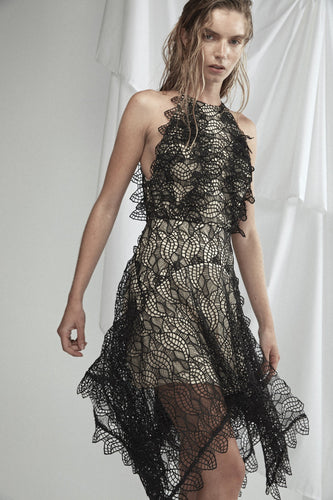 Burton Lace Black Dress by Acler