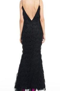 Eleanor Fringe Gown by Talulah