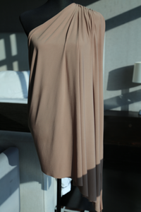 Martin Bautista | Ruched one shoulder dress