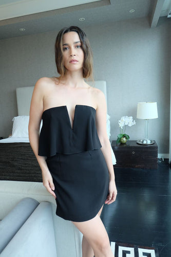 BCBG Maxazria | Black 'V' dress