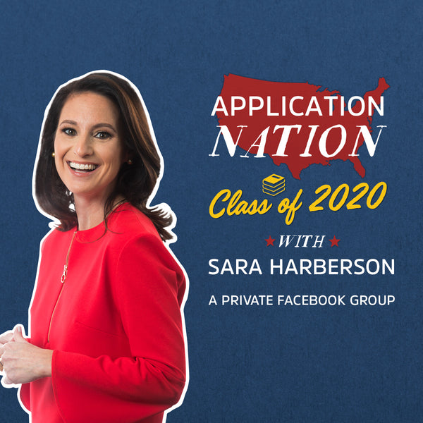 Join Application Nation - Class of 2020 with Sara Harberson, college admissions counseling