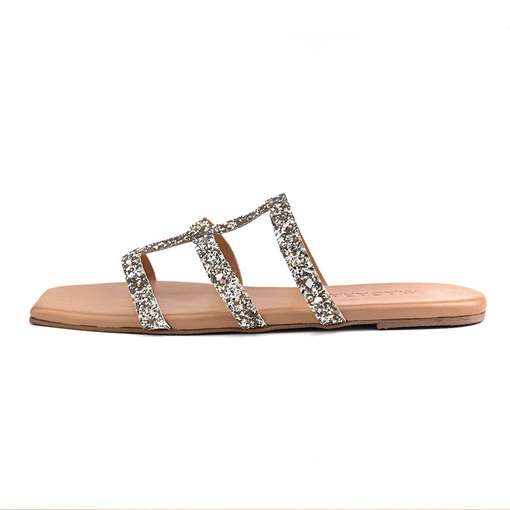 Milana Brown Strappy Flat Sandals