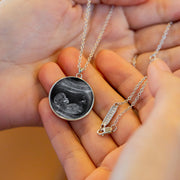 New Mom Necklace - Personalized Ultrasound - 925 Sterling Silver - MPNC202
