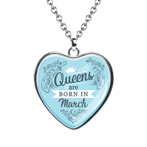 March Queen Birth Month Necklace - MNH202-3