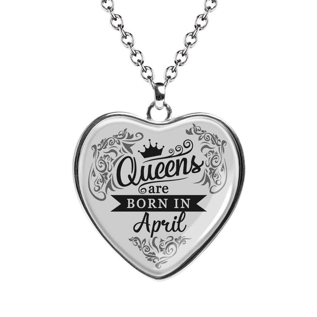 April Queen Birth Month Necklace MNH202-4