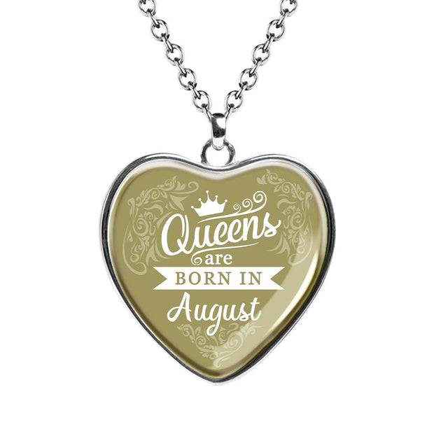 August Queen Birth Month Necklace - MNH202-8