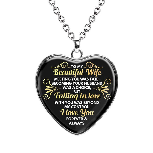 Fate Chiara Heart Necklace - For Wife - MNH203