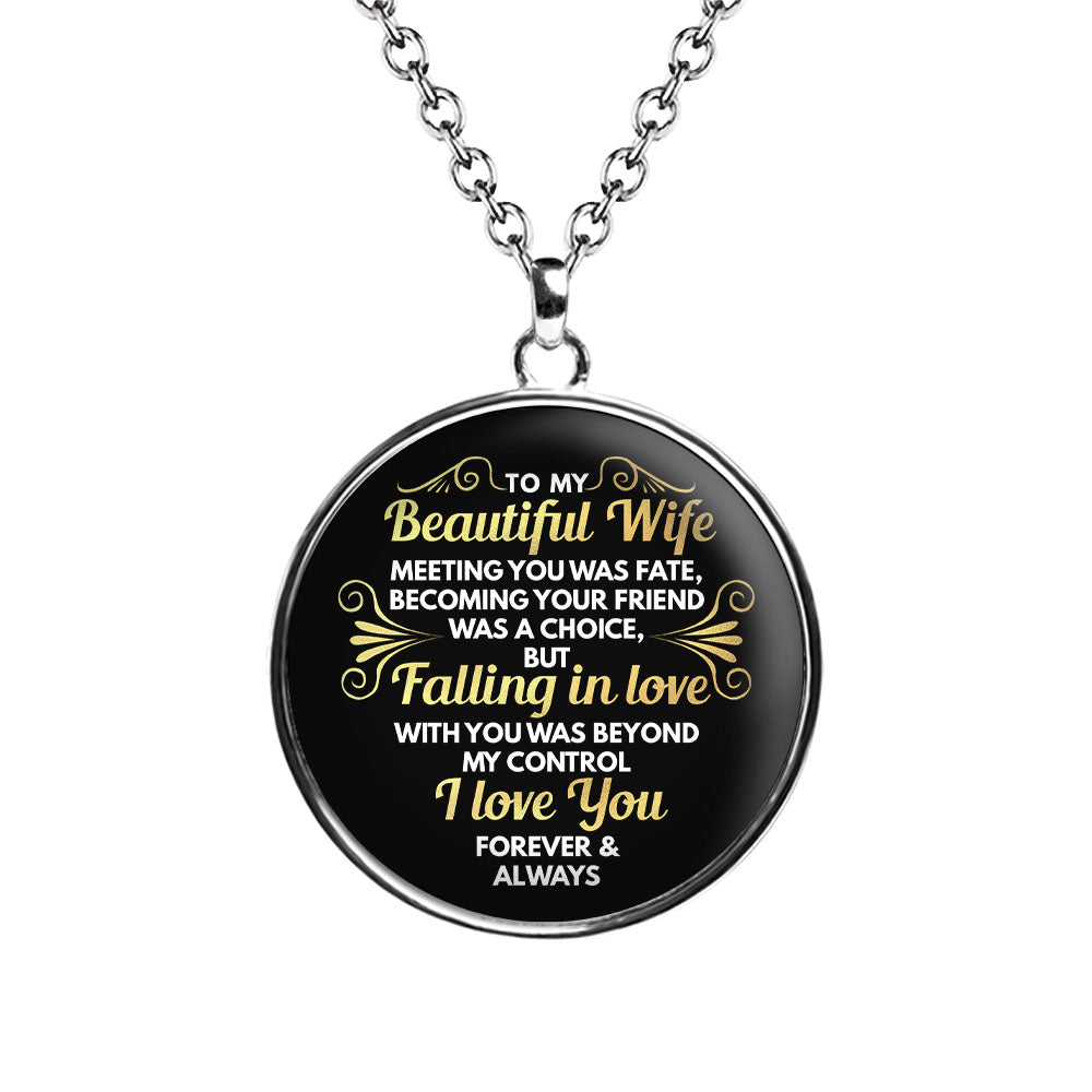 Fate Chiara Circle Necklace -For Wife - MNC202