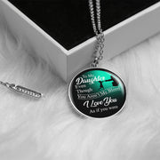 I love you - Chiara Circle Necklace - For Step Daughter - MNC204