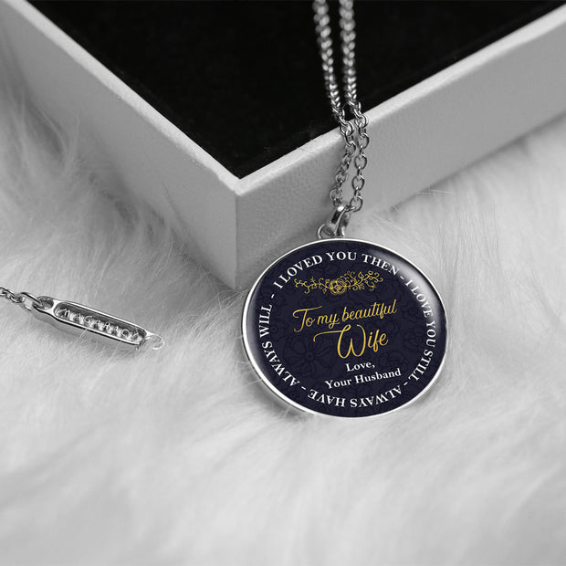 Chiara Circle Necklace Always Will - For Wife - MNC201