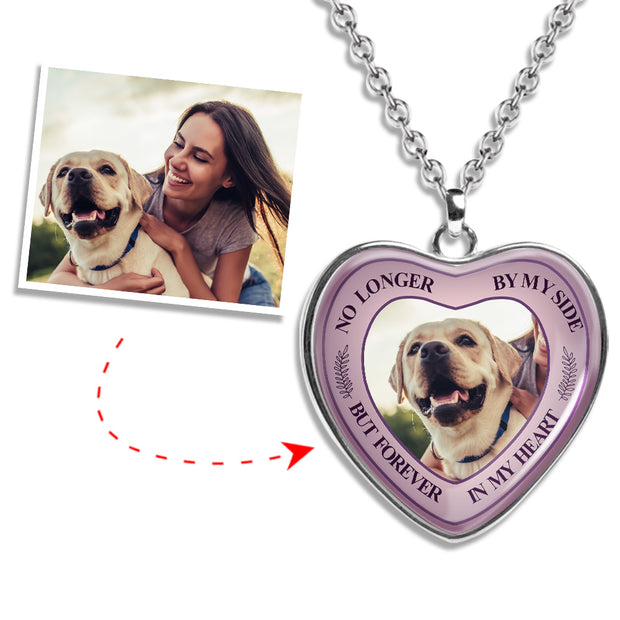 Tribute Heart Photo Necklace - Forever in my Heart - MPNH203