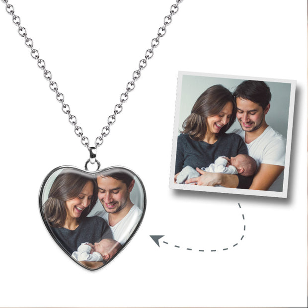 Heart Photo Necklace - MPNH201