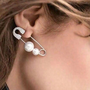 Crystal Safety Pin Earring