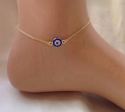 Evil Eye Anklet***Pre-order—Ships May 18th