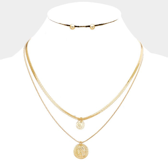 Carol Coin Necklace Set