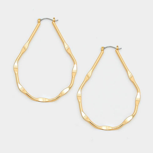 Meena Gold Filled Hoop Earrings