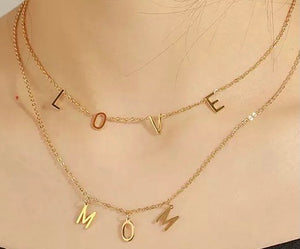 Custom Letters Necklace