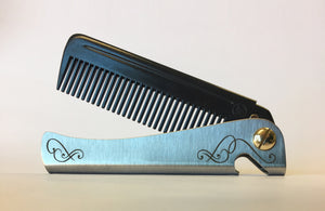 Personalised 'Carbon' Man Comb