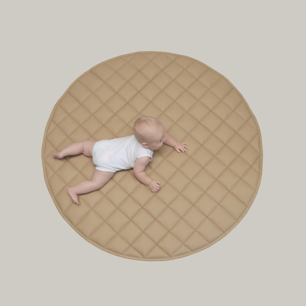 Quilted Play Mat - Peanut Butter