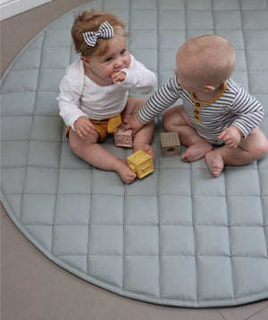 Quilted Play Mat - Earl grey