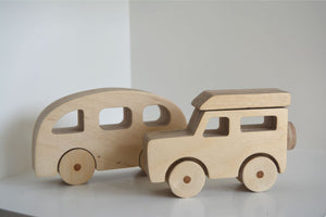 Wooden Land Rover